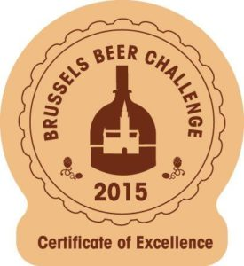 Brussels Beer Challenge 2015 – Certificate of Excellence
