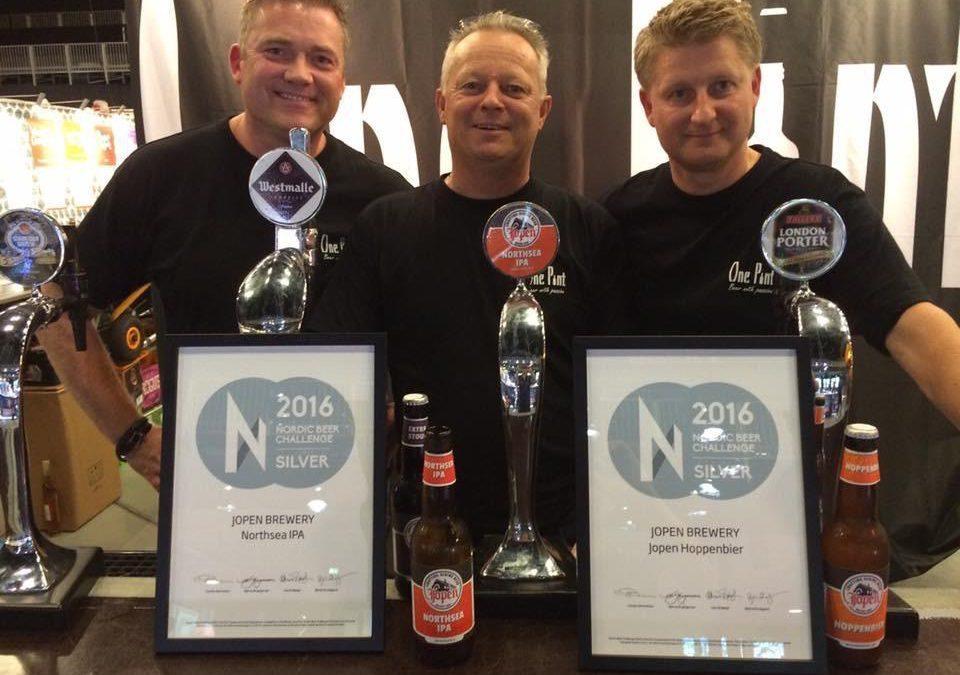 Jopen pakt zilveren medailles op Nordic Beer Challenge 2016