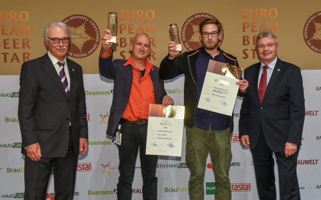 Jopen wint goud én brons op European Beer Star 2016