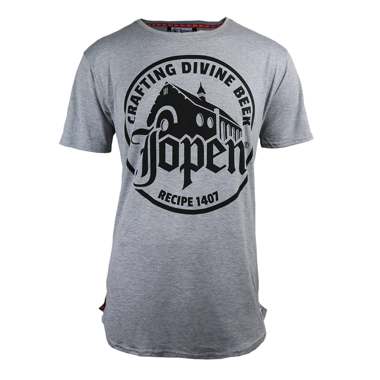 Jopen shirt men Crafting Divine Beer grey