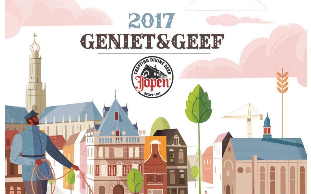 Craft bierbrouwerij Jopen is Geniet & Geef brouwer 2017