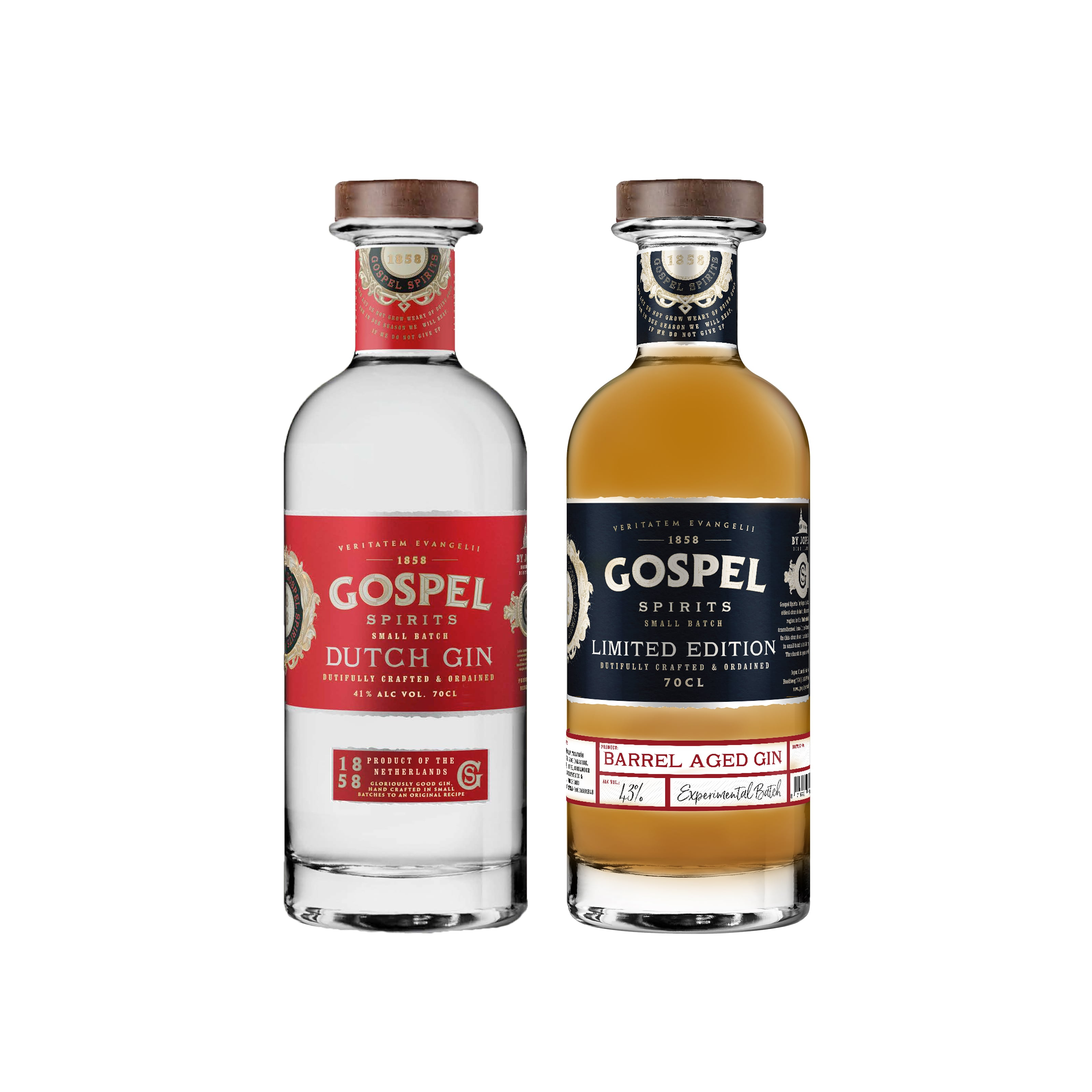 Prijswinnaars pack Gospel Spirits Dutch Gin en BA Gin