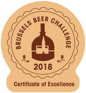 Certificate of Excellence | Brussels Beer Challenge 2018